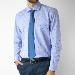 Camisa Fantasia Jaquard Slim Fit