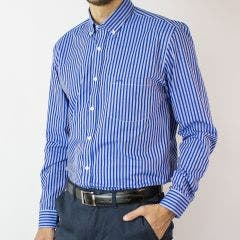 Camisa Trevira Listada Moda Regular Fit