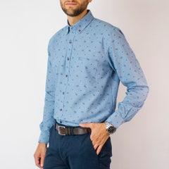 Camisa Oxford Estampada Regular Fit