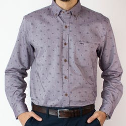 Camisa Oxford Estampada Regular Fit