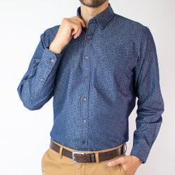 Camisa Indigo Estampada Regular Fit