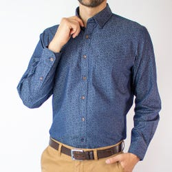 Camisa Indigo Estampada Regular Fit
