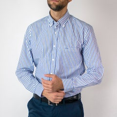 Camisa Trevira Listada Moda Regular Fit