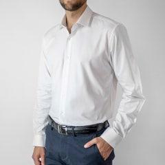 Camisa Dobby Sin Bolsillo Slim Fit White Color