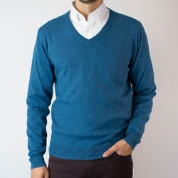 Sweater Cuello V Melange