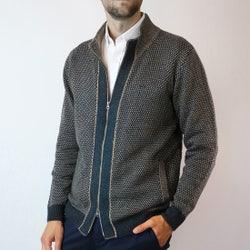 Sweater Full Zipper Con Aplicación