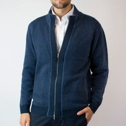 Sweater Full Zipper Con Aplicación