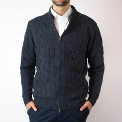 Sweater Full Zipper Jacquard