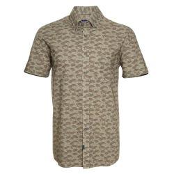 Camisa Manga Corta Casual  Estampada