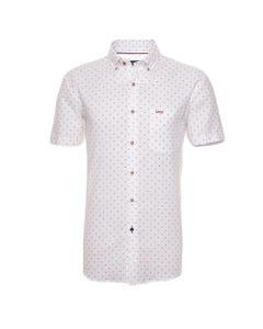 Camisa Manga Corta Casual  Lino Estampada